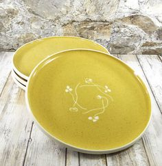 Russel Wright 'White Clover' Golden Spice Plate
