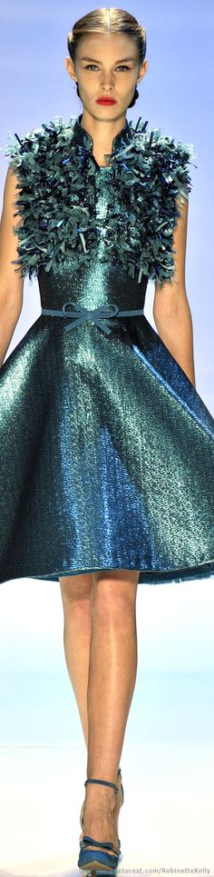 I LOVE the color and shine of this!! Don't much like the design, though... // Georges Hobeika Haute Couture | F/W 2014-15
