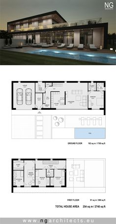 Modern Home Design Plans . Modern Home Design Plans . Pin On Modern House Plans Modern House Floor Plans, Home Design Floor Plans, Contemporary House Plans, Dream House Plans, Modern Villa Design, Villa Plan, Modern Mansion, House Blueprints, House Layouts