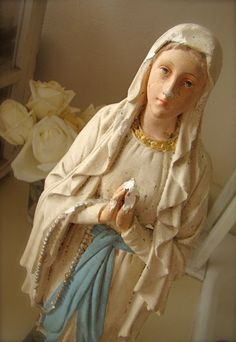 French Madonna Statue by mypetitemaison on Etsy, $625.00
