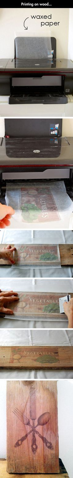 How to print on wood.