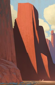 tycarterart: Stranded in Kolob Canyon. Channeling some Edgar Alwin Payne here ) ) tycarterart: Stranded in Kolob Canyon. Channeling some Edgar Alwin Payne here Landscape Concept, Fantasy Landscape, Landscape Art, Fantasy Art, Landscape Paintings, Fantasy Concept Art, Landscape Design, Art Environnemental, 2d Art