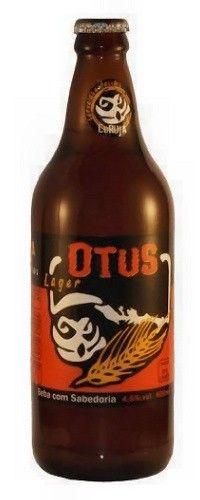 Cerveja Coruja Otus Lager, estilo Premium American Lager, produzida por Coruja, Brasil. 4.5% ABV de álcool.