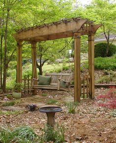 Pergola Ideas For Patio Key: 8996002339 Backyard Swings, Backyard Pergola, Backyard Landscaping, Pergola Kits, Garden Swings, Pergola Ideas, Garden Arbor, Garden Yard Ideas, Arbor Swing