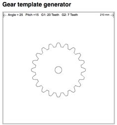 Design custom gears with Gear Template Generator app