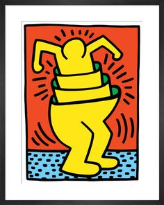 Giclee Print: Pop Shop by Keith Haring : Keith Haring Prints, Keith Haring Art, School Of Visual Arts, Alternative Art, Poster Prints, Art Prints, Posters, Fine Art Gallery, Large Art