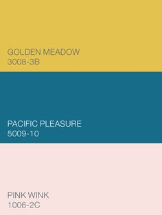 The spirited Valspar colors Golden Meadow 3008-3B, Pacific Pleasure 5009-10 and Pink Wink 1006-2C are from the You Do You palette and will suit all personalities, whether you're a wallflower or a wild child. Available at Lowe's.