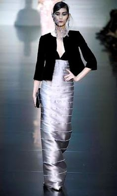 Silver - Giorgio Armani Privé Couture Fall 2012