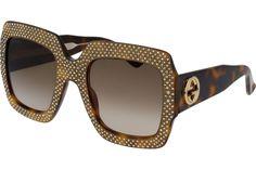 Gucci GG0048S 002 Havana Frame / Brown Gradient Lenses