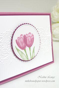 Stampin' Up! Berlin Tranquil Tulips Florales Duo Karte selberbasteln Frühling Ostern 2 mitliebeundpapier.wordpress.com