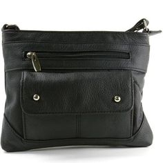 Women's Genuine Leather Handbag Cross Body Bag Shoulder Bag Organizer Mini Purse Black One Size $ was 30 now $12 [gift]