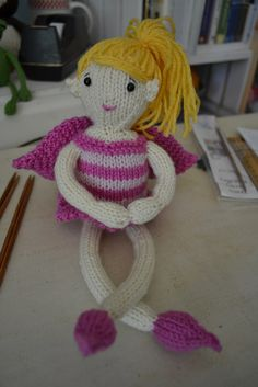Fairy Doll pattern by Susan B. Anderson in 2012 Knit Simple Holiday Issue--can't wait to make this.  So adorable!