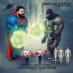 bicep exercise - justice league partner bicep curls