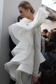 Backstage at Stéphane Rolland Spring Couture 2013 | @castaner