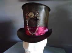 Leather Steampunk Hat--by Artrix Leather and Fine Art.