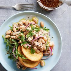 Get a heart-healthy serving of omega-3 fatty acids with our White Bean Tuna Salad. More healthy recipes: http://www.bhg.com/recipes/party/seasonal/healthy-fall-dinners/ #myplate
