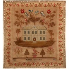A Needlework Sampler, Matilda Dobb Eyre 1828 Sold $1,400.
