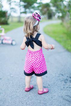 Girls Minnie Mouse Romper Minnie Mouse Sun Suit por KateandLulus