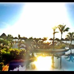 Our sunset in Cancun Mexico