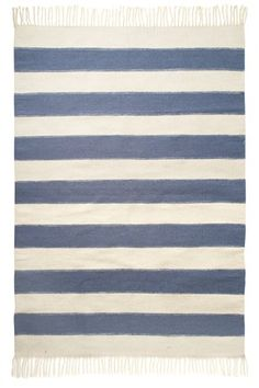 Blue Stripe Rug - Rugs & Flooring - French Connection