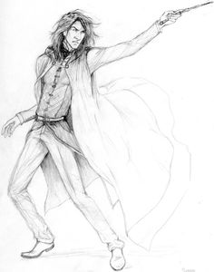 Snape dueling by lucife56 on deviantART