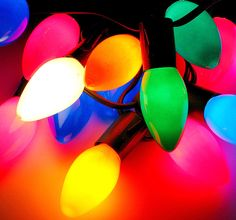 Christmas lights bulbs. I love these- reminds me of my grandparent's tree... I wish the LED ones were comparable...