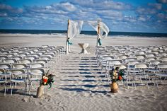Gorgeous beach ceremony space | Beach Wedding at Hotel Icona Diamond Beach, New Jersey | between Cape May & Wildwood Crest, NJ #HotelIcona #DiamondBeach #BeachWedding
