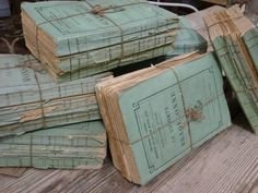 ~vintage french books in a lovely color~