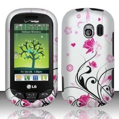 LG Extravert(Verizon) vn271 Accessory - Black vines & Pink Lotus Flower Design Case Protective Cover (Wireless Phone Accessory)  http://www.innoreviews.com/detail.php?p=B007525HYU  B007525HYU