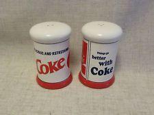 COCA COLA SALT & PEPPER SHAKERS