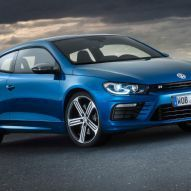Facelifted Volkswagen Scirocco R Front Side View Posing