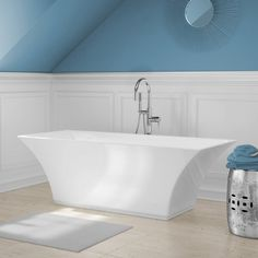A and E Bath and Shower Abzu Free Standing Tub with Floor Faucet - ABZU