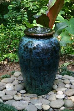Make a fountain from a pot So easy gardening Amazing