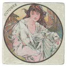 Image result for alphonse mucha the twelve months - October