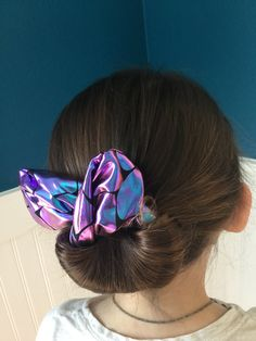 Excited to share the latest addition to my #etsy shop: The Bun And Done, hair accessory, bun maker, hair style, Shimmer Mermaid Scale https://etsy.me/2JwykyQ #accessories #hair #blue #purple t#hairaccessory #bun #beauty #cute #updo