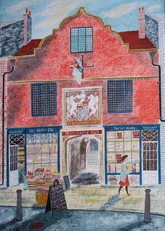 Merchants Hall, York by Emily Sutton, local artist Art And Illustration, Museum Of Childhood, Glasgow School Of Art, Folk Art, Drawings, Sketches, Artwork, York Uk, York England