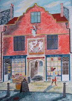 Merchants Hall, York by Emily Sutton, local artist Museum Of Childhood, Glasgow School Of Art, Children's Book Illustration, Folk Art, Art Drawings, Sketches, Artwork, Prints, York Uk