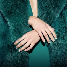 Gorgeous nail art in an amazing emerald color. From the new nail polish line of Louboutin.