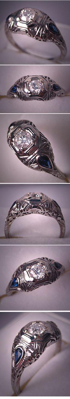 New Wedding Rings Antique Vintage Art Deco Ideas Art Deco Wedding Rings, Antique Wedding Rings, Antique Rings, Antique Jewelry, Vintage Jewelry, Art Deco Diamond Rings, Vintage Diamond Rings, Vintage Rings, Vintage Art