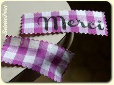 Tuto : rigidifier une étiquette en tissu