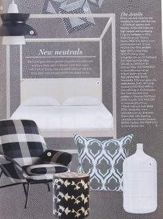 New Neutrals! Sydney Harbour Paints (Porter's Collection) Wallpaper 'Zigrino' in Mink as featured in Australian House & Garden - March 2014 issue.