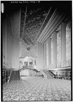 Grand Lobby, Paramount Theatre, Oakland, California The Beauty is Awesome, wish it was in color:)
