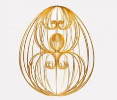 Egg No. 59 - 'The Golden Egg' by Nathalie Priem with Wooden Horse