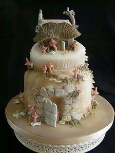 Beautigul fairy jushroom cake, would make an awesome wedding cake