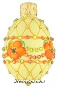 Miniature Egg Ornament From Patricia Breen (Easter, Spring)