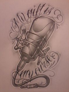 microphone tattoo designs - Google Search