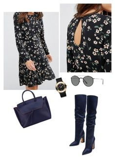 """""""Black and Blue"""" by tata-kazarian on Polyvore featuring Marc by Marc Jacobs, Ray-Ban and Alexandra de Curtis"""
