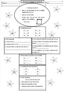 Numerele naturale de la 0 la 31. Fișă de lucru pentru consolidare sau evaluare Chores For Kids, Math For Kids, Activities For Kids, Homework Sheet, School Frame, Birthday Activities, Kids Math Worksheets, Math Numbers, School Lessons