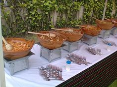 Terra Cotta dishes on heat Mexican Menu, Mexican Buffet, Mexican Party, Mexican Food Recipes, Catering Table, Catering Display, Wedding Catering, Catering Ideas, Buffets