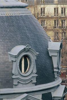 Bull's eye window in France #zinc #ornaments #vmzinc #roofing